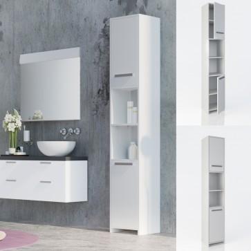 VICCO Badschrank KIKO 195 x 30 cm Weiß