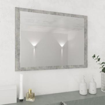 VICCO Badspiegel KIKO 60 x 45 cm Grau Beton