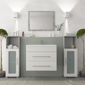 VICCO Badmöbel Set Waschplatz 60 cm Weiß