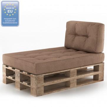 Palettenkissen Set Sitz+Seitenkissen Taupe