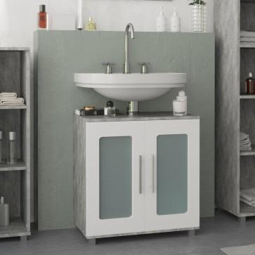 VICCO Waschbeckenunterschrank RAYK 60 cm Grau Beton
