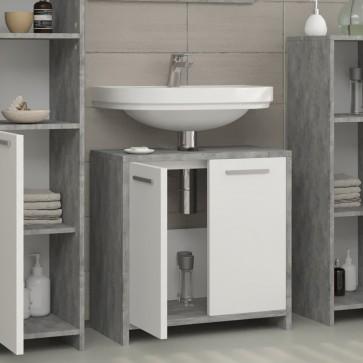 VICCO Waschbeckenunterschrank KIKO 60 cm Grau Beton