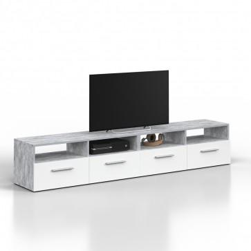 VICCO Lowboard Set DIEGO 190 cm Grau Beton
