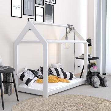 VICCO Hausbett Kinderhaus Kinderbett WIKI 70x140cm Holz Weiß