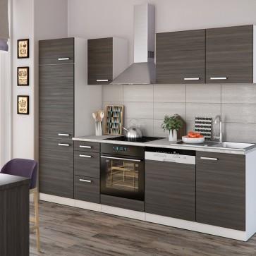 Küchenzeile Optima 270 cm Anthrazit