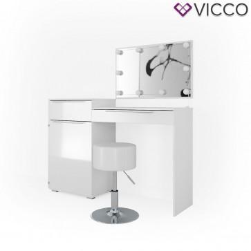 VICCO Schminktisch LITTLE LILLI mit Hocker und LED-Beleuchtung