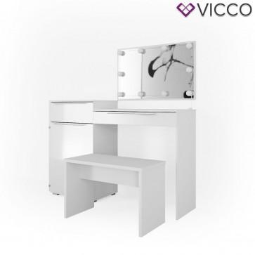 VICCO Schminktisch LITTLE LILLI mit Bank und LED-Beleuchtung