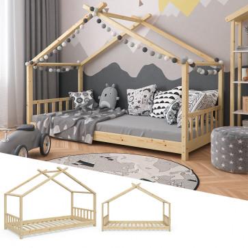 VITALISPA Hausbett DESIGN 90x200cm Holz Natur