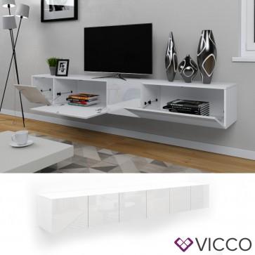 VICCO Sideboard CUMULUS 2er Set-Weiß Hochglanz