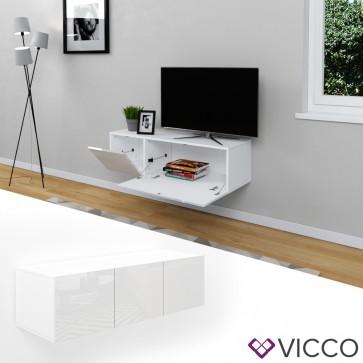 VICCO Sideboard CUMULUS-Weiß Hochglanz