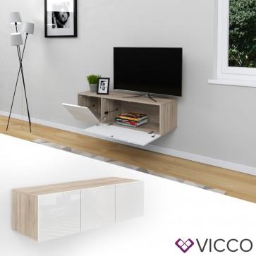 VICCO Sideboard CUMULUS-Weiß / Sonoma Eiche