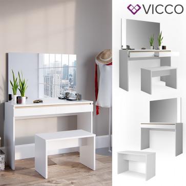 VICCO Schminktisch EMMA-mit Bank & Spiegel