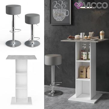 Vicco Bartisch RODEO in weiß, beton inkl. Barhocker