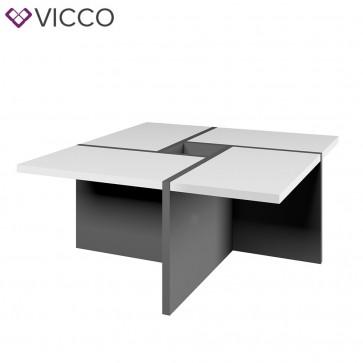 VICCO Couchtisch Domino Anthrazit Weiß 80 cm
