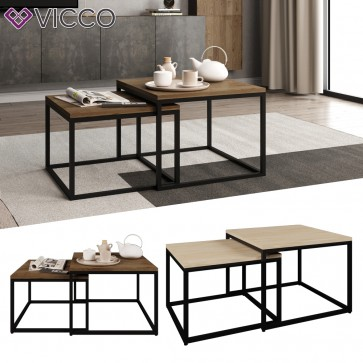 VICCO Loft Couchtisch MALIBU Duet 60x60