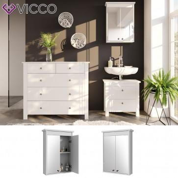 VICCO Spiegelschrank ALBATROS Weiß