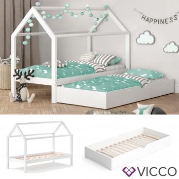 VICCO Hausbett WIKI MDF + Unterbett