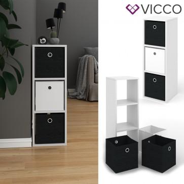 VICCO Raumteiler HYLDA 3 Fächer Weiß