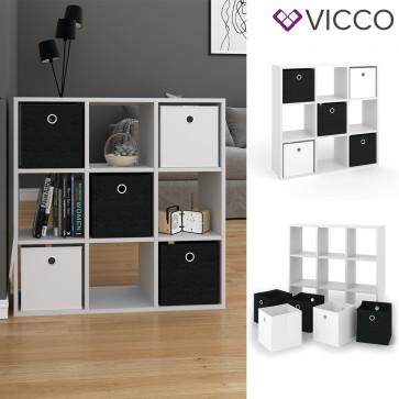 VICCO Raumteiler HYLDA 9 Fächer Weiß