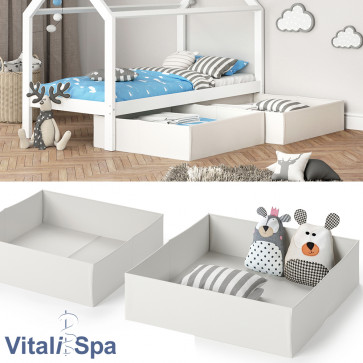 VitaliSpa Faltbox für Kinderbett 2er Set weiß
