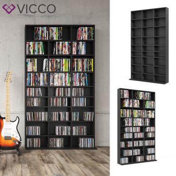 VICCO CD DVD Regal JUKEBOX 180 cm Schwarz