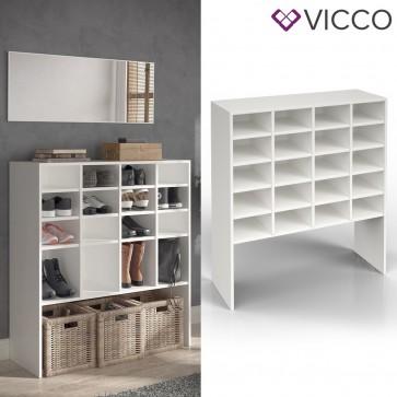 VICCO Schuhschrank HERMIA 20 Fächer Weiß