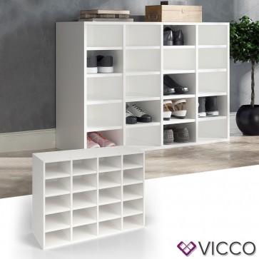 VICCO Schuhregal LYSANDER Weiß