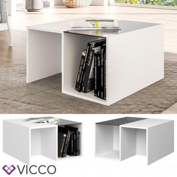 VICCO Couchtisch LOTTE weiß schwarz