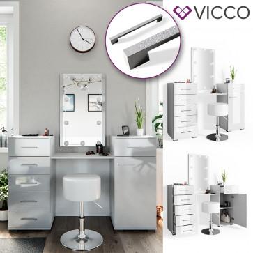 VICCO Schminktisch ZOE weiß hochglanz
