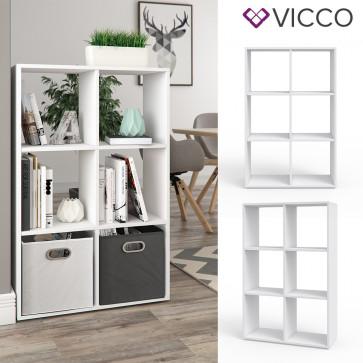 VICCO Raumteiler 6 Fächer Weiß