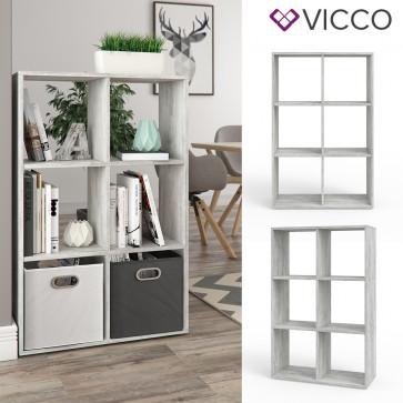 VICCO Raumteiler 6 Fächer Beton