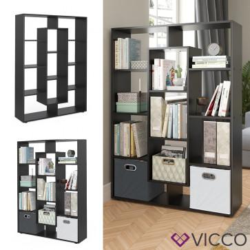 VICCO Raumteiler 11 Fächer Schwarz