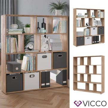 VICCO Raumteiler Pilar 12 Fächer Sonoma