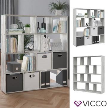 VICCO Raumteiler Pilar 12 Fächer Beton