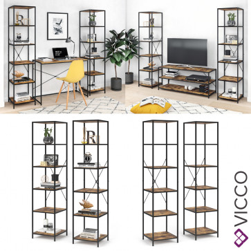 VICCO Loft Standregal Fyrk 2er Set