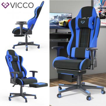 VICCO Gamingstuhl ALPHA-Schwarz-Blau