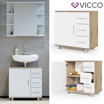 VICCO Waschtischunterschrank ILIAS Sonoma Weiß