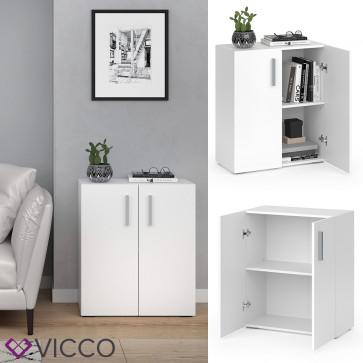 VICCO Bücherregal EASY S Weiß Türen