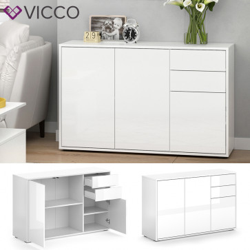 VICCO Kommode Avola 116 cm Weiß