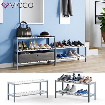 VICCO Bambusregal Schuhregal 2 Ebenen
