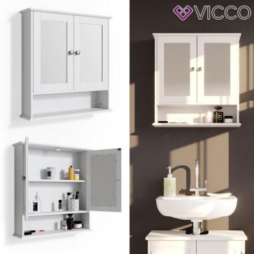 VICCO Spiegelschrank Bianco