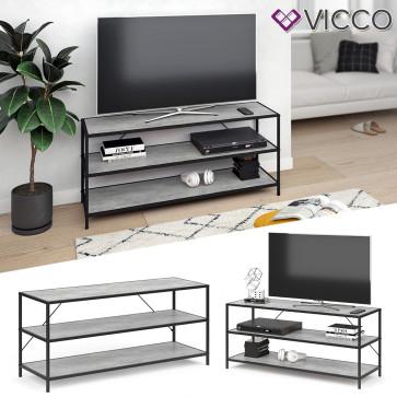 VICCO Loft Fernsehtisch FYRK TV Lowboard Schrank Board Regal 120x53x40 cm Beton
