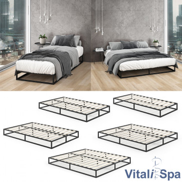 VITALISPA Metallbett MATTIA Bettgestell inkl Lattenrost Gästebett Bett