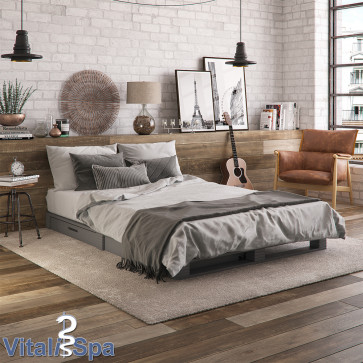 VICCO Palettenbett mit Schubladen und Matratze