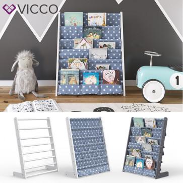 VICCO Kinderregal Kinderzimmerregal Spielzeugregal Bücherregal Hängefächerregal