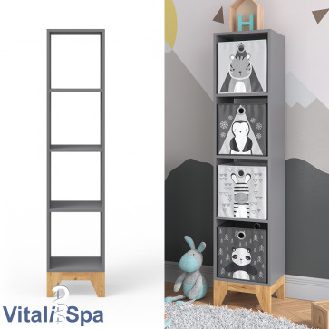 VitaliSpa Kinderregal Malia anthrazit