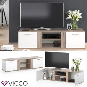 Vicco TV Lowboard Novelli weiß/sonoma