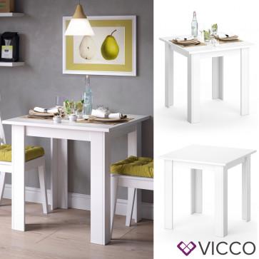 Vicco Esszimmertisch KARLOS Weiß 80 cm