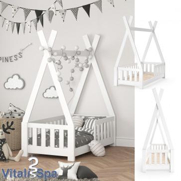 VITALISPA Hausbett TIPI 70x140cm Weiß