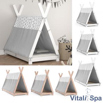 Vitalispa Kinderbett Hausbett Tipi + Überwurf